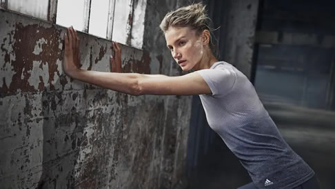 Sydney model and jumps athlete Amy Pejkovic in the Adidas apparel collaboration with The Woolmark Company. Picture: The Woolmark Company
